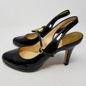 Cole Haan Shoes - Cole Haan Nike Air Black Patent Wanda Sling Back